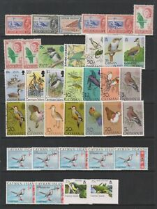 Cayman Island - Small Collection of 36 Bird stamps - Mint & Used