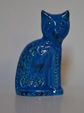 BITOSSI ALDO LONDI RIMINI BLUE (BLU) SITTING CAT - new & boxed Italian pottery