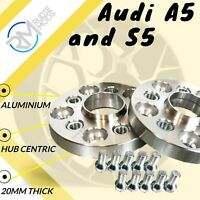 Audi A5 and S5 20mm Alloy Hubcentric Wheel Spacers 5x112 66.6 1 pair