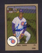 Greg Tabor 1988 Iowa Cubs Autographed Signed w/COA jh55