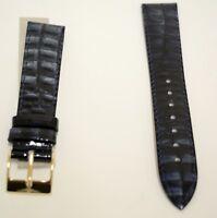 Neu hochwertiges Elysee Uhrenband Uhrenarmband Leder schwarz blau 18mm E604