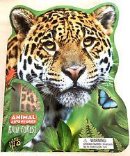 Animal Adventure Rain Forest Play Set Book Diorama Animals 3D Models Stickers