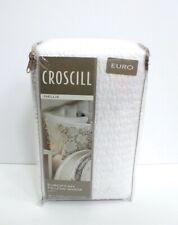 Croscill Nellie One Cotton Quilted European Euro Pillow Sham White Tie Closure