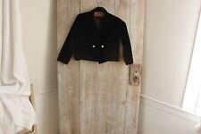 Antique velvet child's jacket coat  1800's French textile chidren's clothing