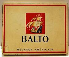 BOITE METAL lithographiée VIDE CIGARETTES BALTO M Giot 14,5x11,3 cm