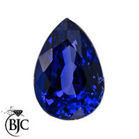 BJC® Loose Natural Blue & Black Sapphires All Pear Cut Multiple Size Choices