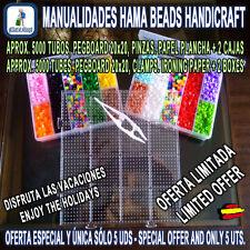 HAMA BEADS MIDI 5000 Tubos 2 Pegboard 15 cm Pinza Papel 2 Cajas EDICIÓN ESPECIAL