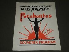 1935 CLARE TREE MAJOR POCAHONTAS SOUVENIR PROGRAM - CHILDREN'S THEATRE - J 2365