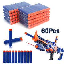 UK 60pcs Kids Toy Gun Bullet Darts Round Head Blasters For Nerf N-Strike 7.2CM