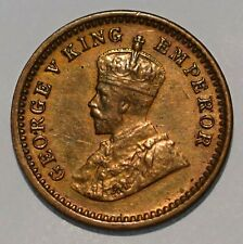 India 1917 1/12 Anna, KM# 509, Obsolete Coin, Circulated