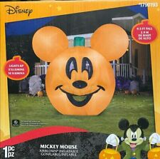 Gemmy Disney 9.5 FT Halloween Mickey Mouse Jack O Lantern Pumpkin Inflatable