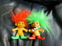 RUSS Set of 2 Elves TROLL Dolls