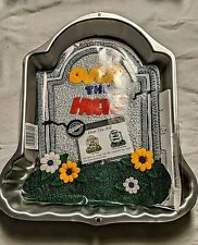 Wilton Tombstone Cake Pan Halloween Over The Hill W/Insert & Instructions