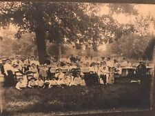 Cabinet Card GATHERING PICNIC Big Table Children Horse Buggy Mooresville Indiana