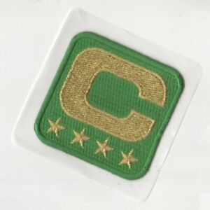 2019 SEASON GREEN BAY PACKERS CAPTAINS JERSEY FOUR-4-GOLD-⭐-STAR Stick-on PATCH