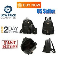 Fashion Backpack For Women Leather Backpack Black Mini Backpack Purse Daypack 3