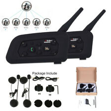 1200m 6 Riders Intercom Wireless Motorcycle Helmet Interphone Headset V6