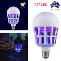 E27 LED Anti-Mosquito Bulb 15W 1000LM 6500K Electronic Insect Fly Killing Bulb