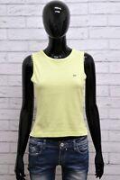 LACOSTE Donna Maglia Maglietta Polo Shirt Woman Taglia 38 Elastica Canottiera