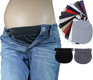 2x Maternity Pregnancy Waistband Extender Trousers Adjustable Elastic Belt Waist