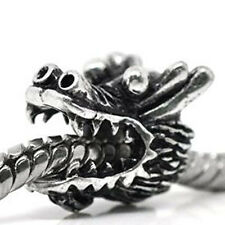 Dragon Head Bead Spacer for Snake Chain Charm Bracelet