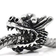Dragon Head Bead Spacer for Snake Chain Charm Bracelet