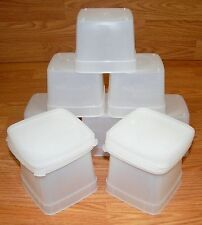 Lot of 8 Unbranded Plastic 16 oz. Deli Food/Soup Storage Containers w/ Lids