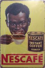 NEW Faux Vintage Tin Metal Sign NESCAFÉ Home Décor Coffee Replica Advertisement