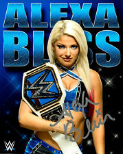 WWE ALEXA BLISS HAND SIGNED AUTOGRAPHED 8X10 PHOTO WITH COA VERY RARE 4