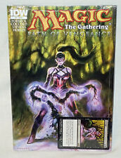 MAGIC THE GATHERING PATH OF VENGEANCE # 4 COMIC IDW & PROMO CORRUPT MTG CARD