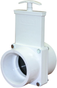 PVC Gate Valve White 3-Inch Slip Plumbing Pipe Fittings Accessories Replacemen