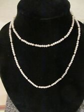 """Vintage Avon Faux Pearls By The Yard Necklace 36"""" Nib 1989"""