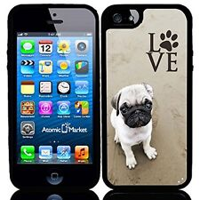 Pug Love With Paw For Iphone 6 Case Cover