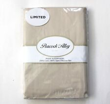 Peacock Alley One Pair Cream Solid Cotton Sateen King Pillowcases 300 TC