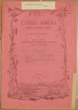 L'UMBRIA AGRICOLA 15 30 MAGGIO 1890 AGRICOLTURA CASERMA VINO PASSITO AUSTRALIA