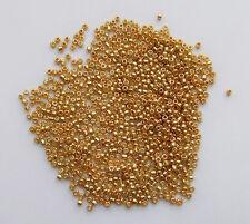 15gr  perline conteria in vetro  2mm  12/0 colore oro
