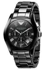 Emporio Armani AR1400 Black Ceramic Chronograph Black Dial Men's Watch