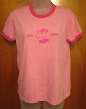 CASTING CROWNS juniors XL pink tee Atlanta ringer T shirt Christian rock logo