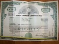 TEXAS EASTERN CORPORATION  RIGHTS CERTIFICATE