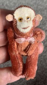 "VTG Antique 2.5"" Miniature German Schuco ? Limb Jointed Monkey So Cute No Res"
