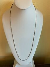 """Sterling Silver 30"""" Box Style Chain Sizzling Summer Silver Liquidation Sale"""