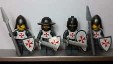 Lego Custom CASTLE TEMPLAR MALTESE KNIGHTS Minifigs NEW made from Stickers