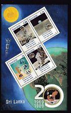 More details for sri lanka mnh stamp sheet 1989 1st manned landing on the moon sg ms1091