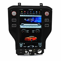 32GB Tesla Vertical Style Car Radio GPS Navigation For Ford Mustang 2015-2019