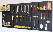 WallPeg  pegboard panels, shelves, bins, locking peg hooks for tool storage 72 B