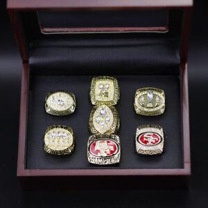 7 Ring Set NFL San Francisco 49ers Championship Replica Ring Set Display Box