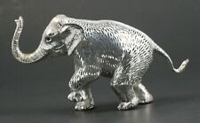 Vtg Signed CHRISTOFLE Lumiere Silverplate Adult Elephant Animal Sculpture