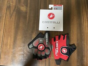 Castelli rosso corsa pro Cycling glove - Men's Small.  Tried On Bit Not Used