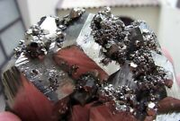 PYRITE SHINING PENTADODECAHEDRAL CRYSTALS on MATRIX from PERU....GORGEOUS PIECE.