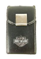 """Harley Davidson Motorcycles Black Leather Card Holder Logo 4 × 2.5"""""""